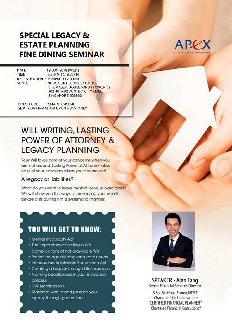 Special Legacy & Estate Planning Fine Dining Seminar (19
